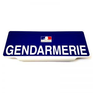 Clip pare soleil Gendarmerie rétroréfléchissant