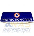 Plaque pare-soleil PROTECTION CIVILE rétroréfléchissante
