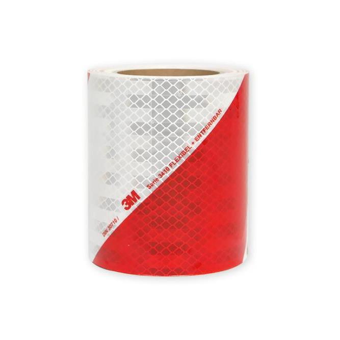 Rouleau de balisage rouge blanc classe B prismatique