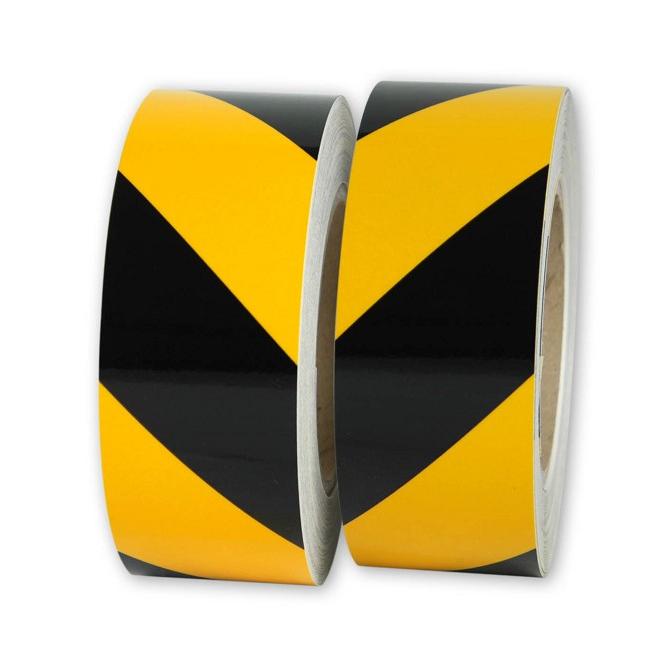 Rouleaux de balisage jaune noir