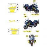 Kit jaune fluo BMW 1200 RT Gendarmerie 2013