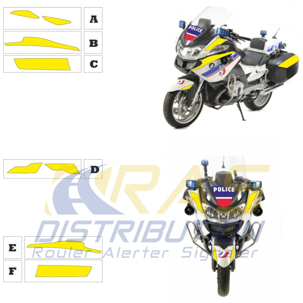 Kit jaune fluo BMW 1200 RT Police 2013