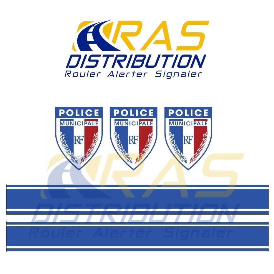 Kit serigraphie Police Municipale VTT velo