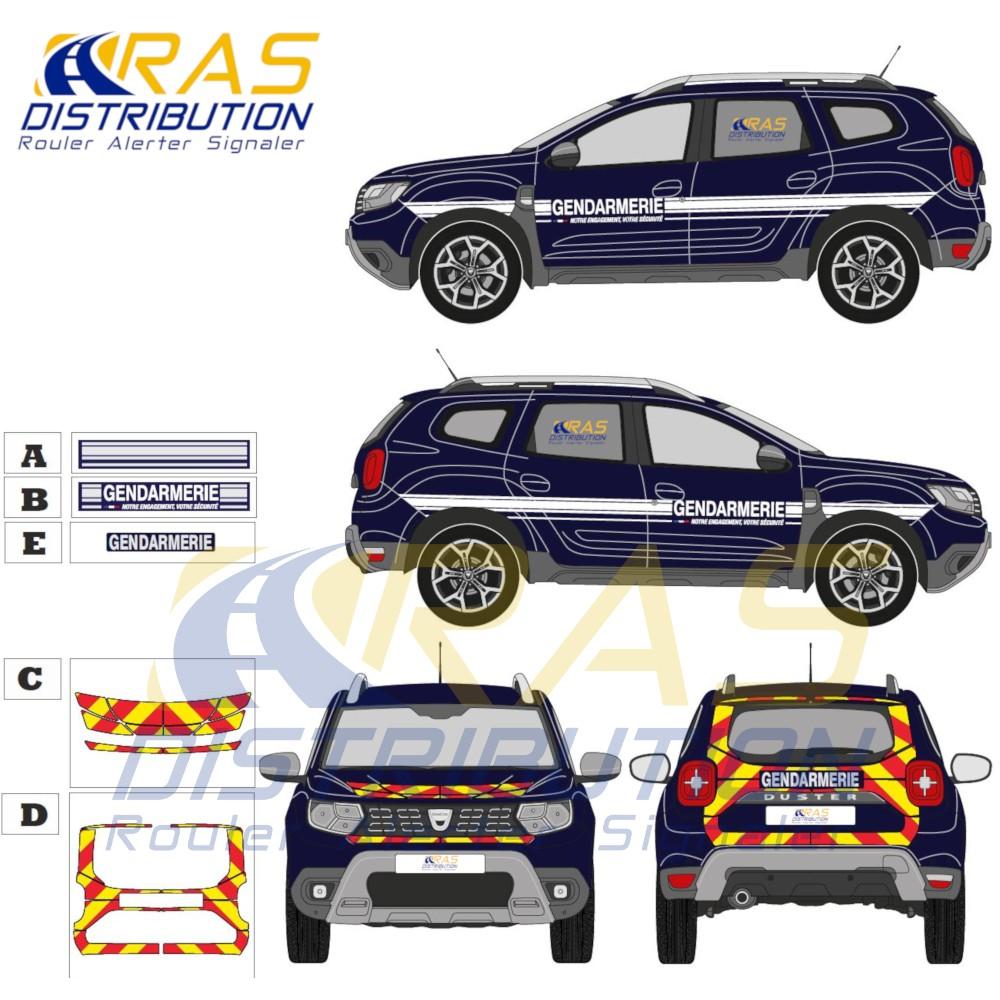 Nouvelle sérigraphie Gendarmerie Dacia Duster 2018
