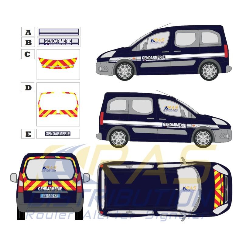 Nouvelle sérigraphie Gendarmerie notre engagement votre securite Peugeot Partner