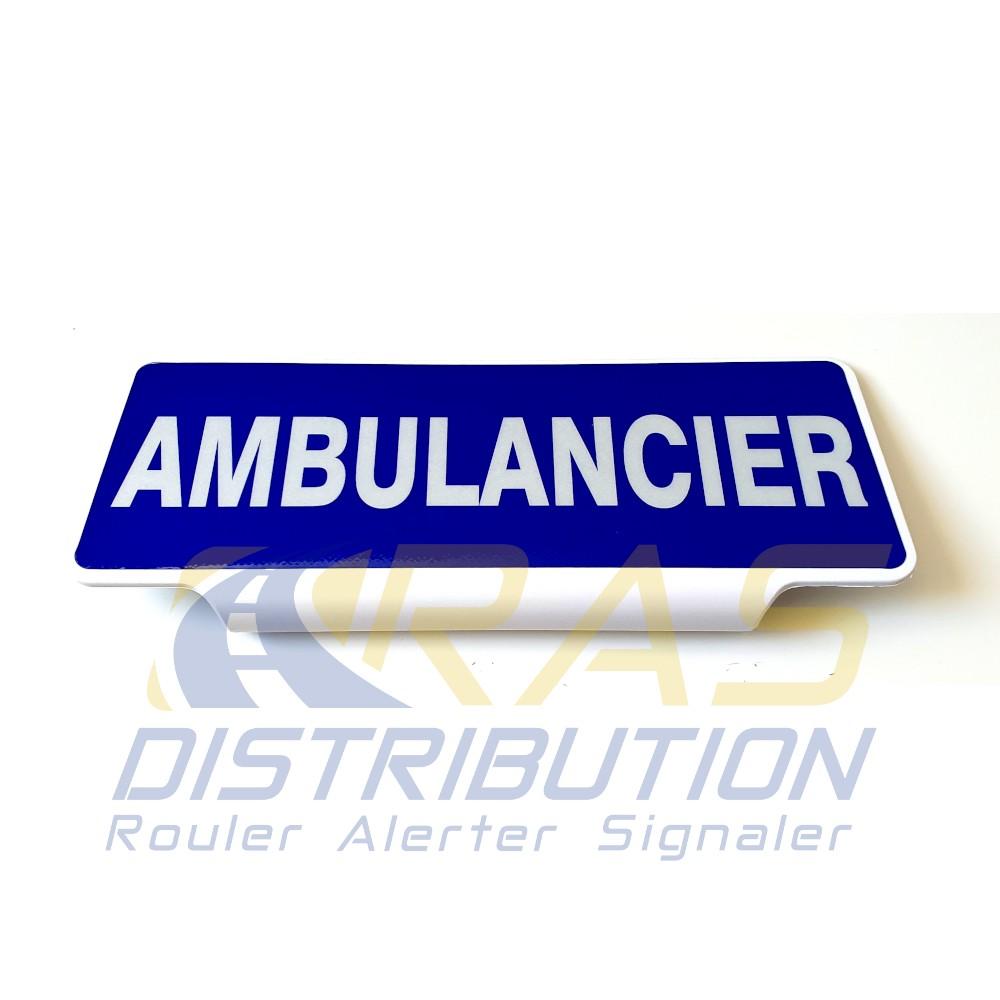Plaque pare soleil Ambulancier
