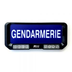 Pare soleil Gendarmerie avec feux de penetration