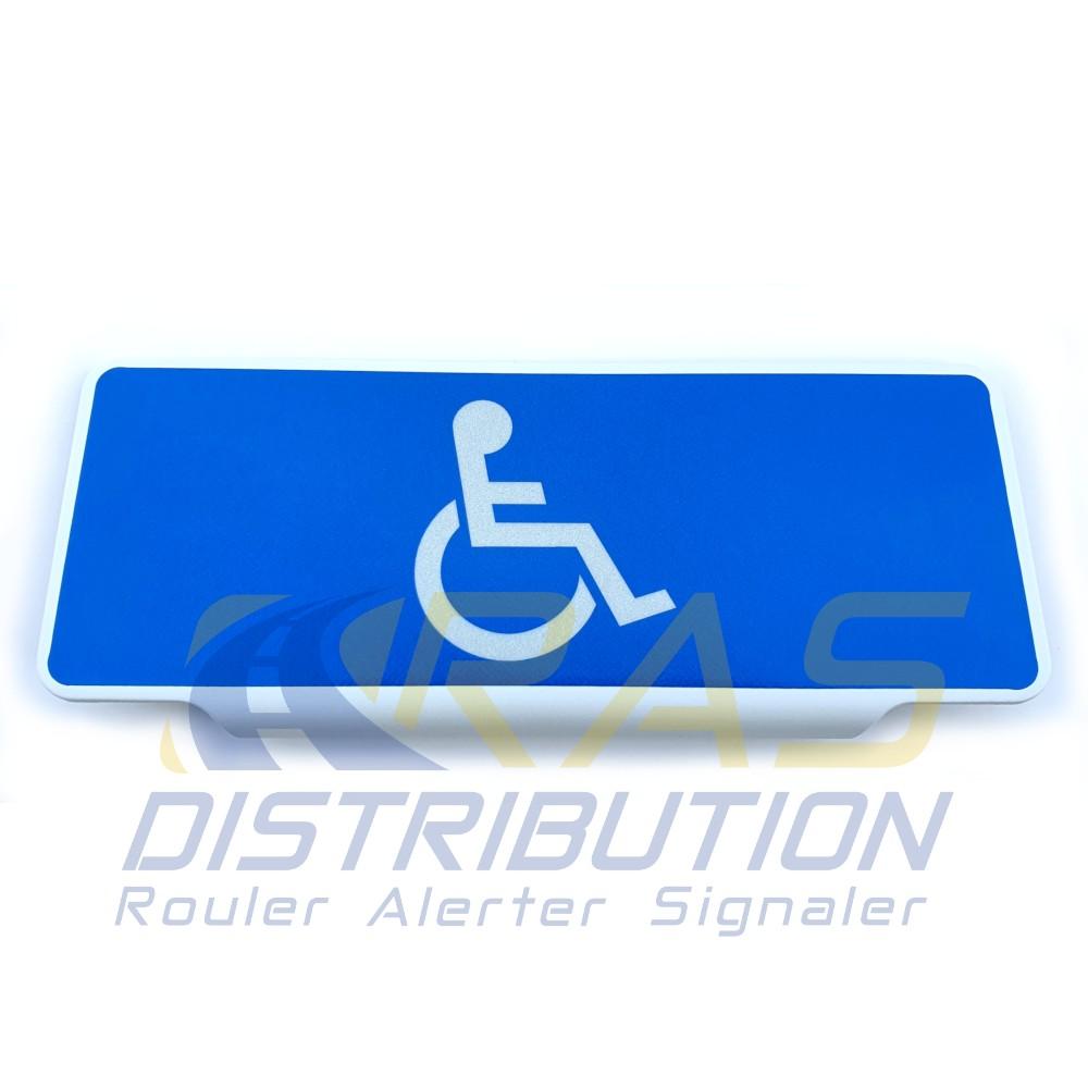 Pare soleil handicape avec pictogramme handicap